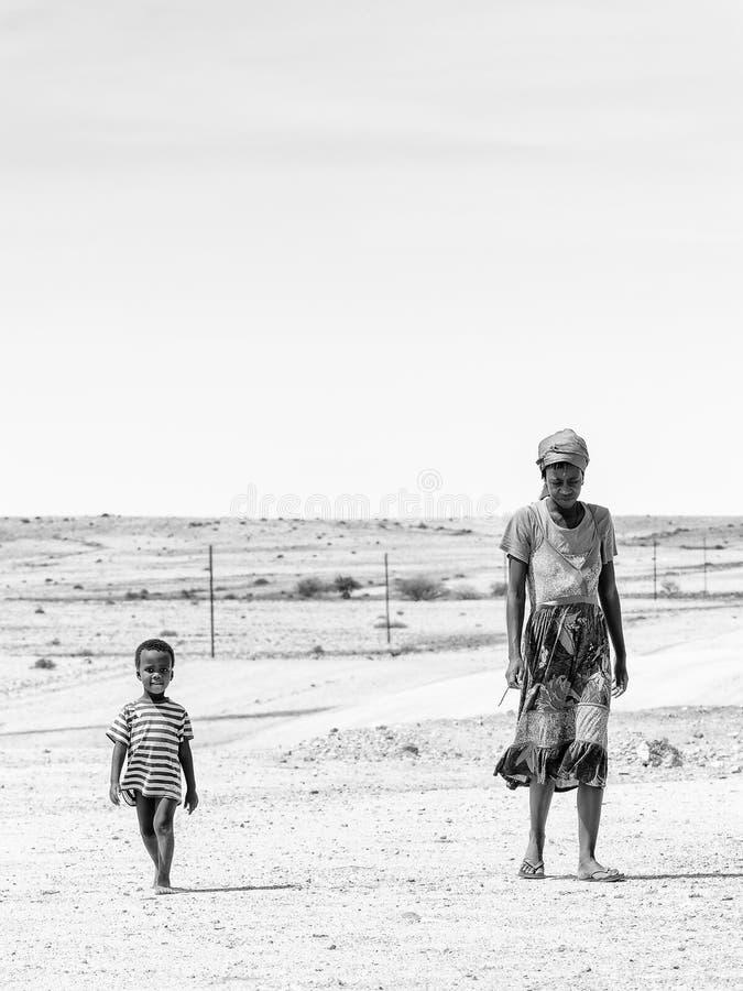 Leute in Namibia stockfoto