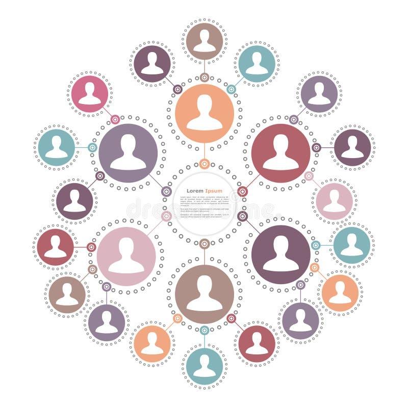 Leute-Netz-Konzept vektor abbildung