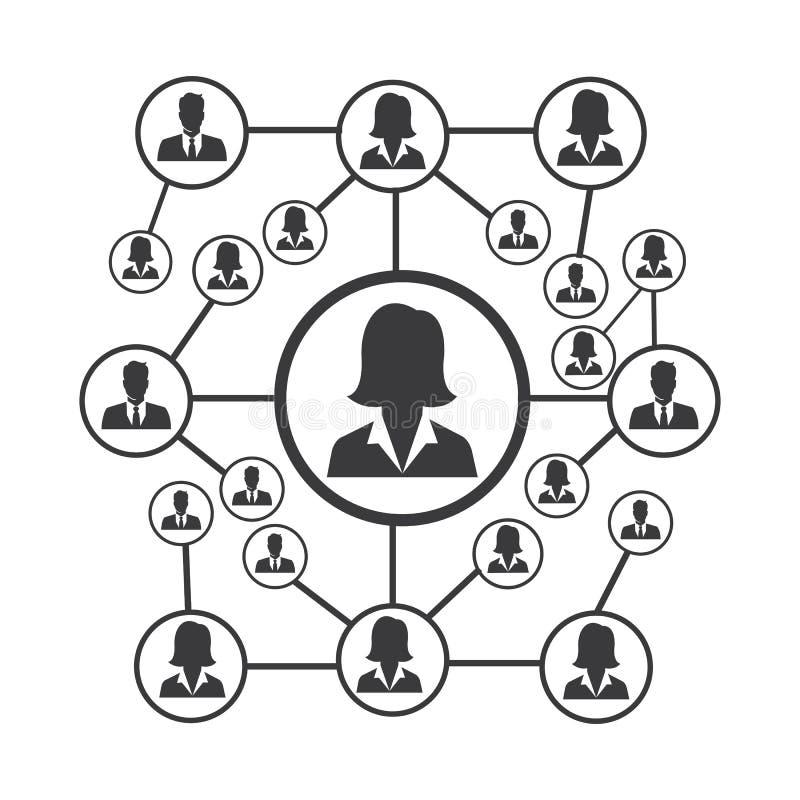 Leute-Netz und Sozialikonendesignschablone stock abbildung