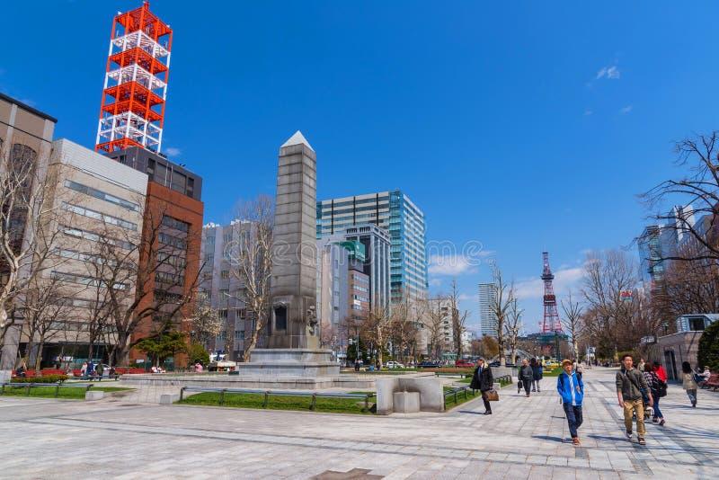 Leute an Odori-Park, Sapporo lizenzfreie stockfotografie