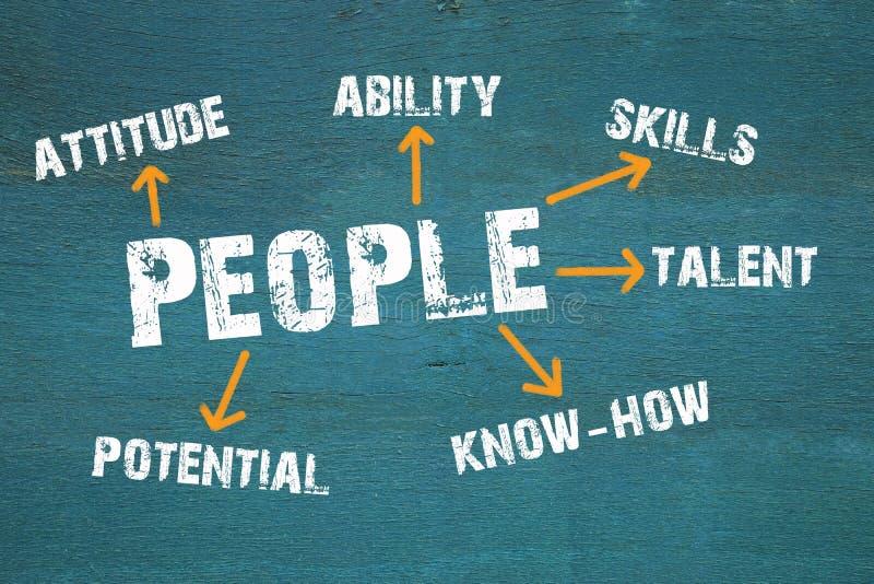 Leute - Personalwesen und Talent-Management-Konzept vektor abbildung