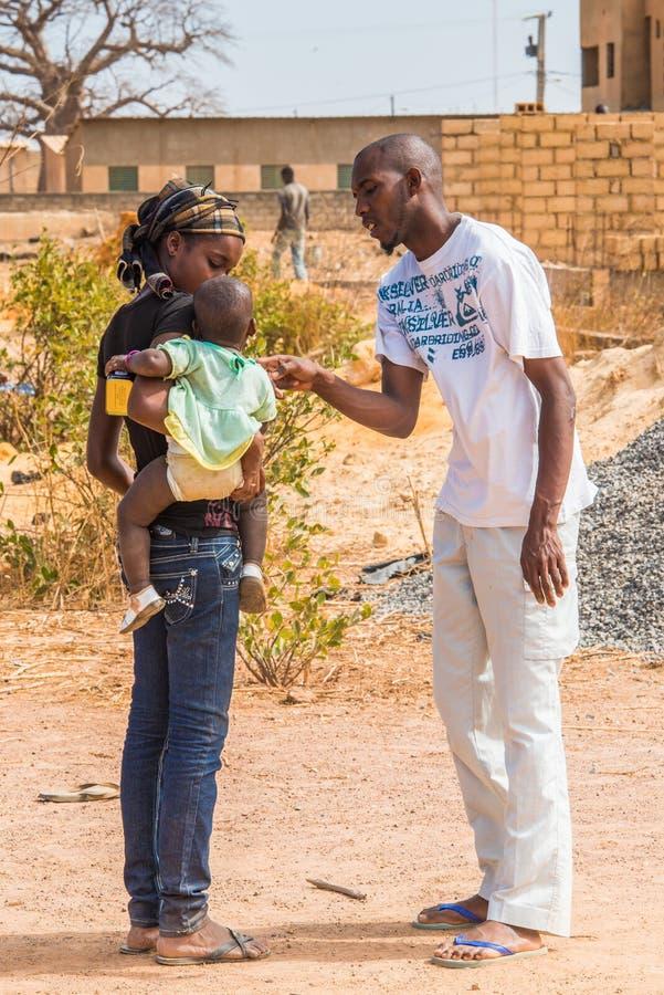 Leute in Senegal, Afrika lizenzfreies stockbild