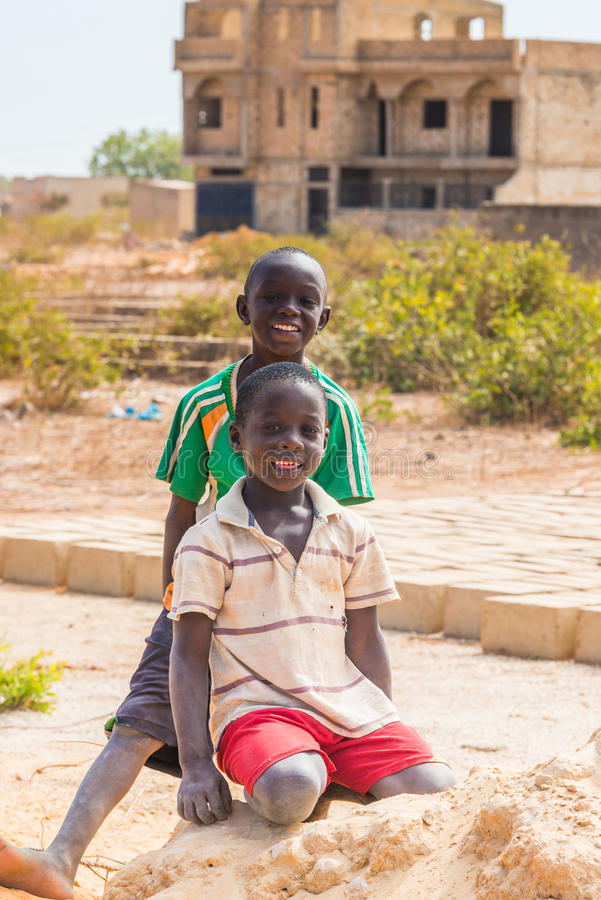 Leute in Senegal, Afrika stockbild