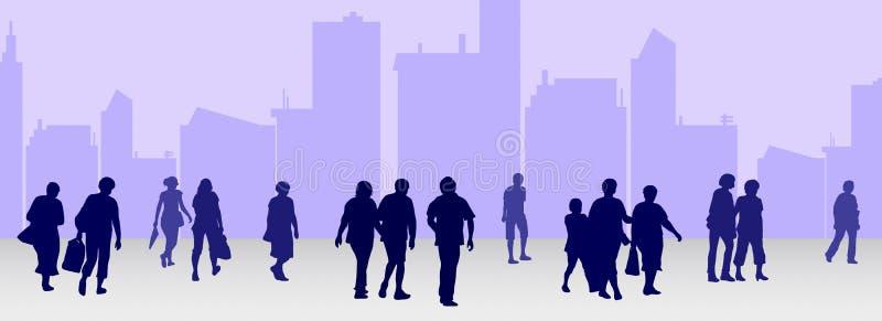 Leute silhouettieren Sammlung lizenzfreie abbildung