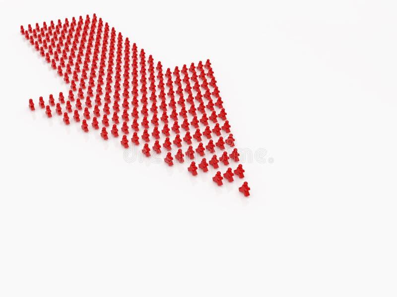Leute stellten siebenundzwanzig ein vektor abbildung