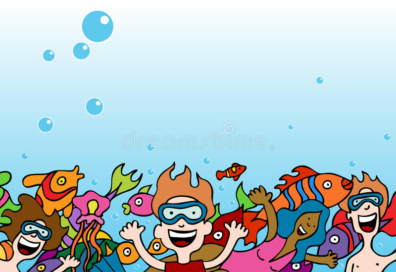 Leute Swimiing lizenzfreie abbildung