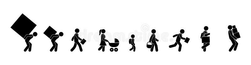 Leute tragen Abnutzung, Stockzahl Mannikone lizenzfreie abbildung