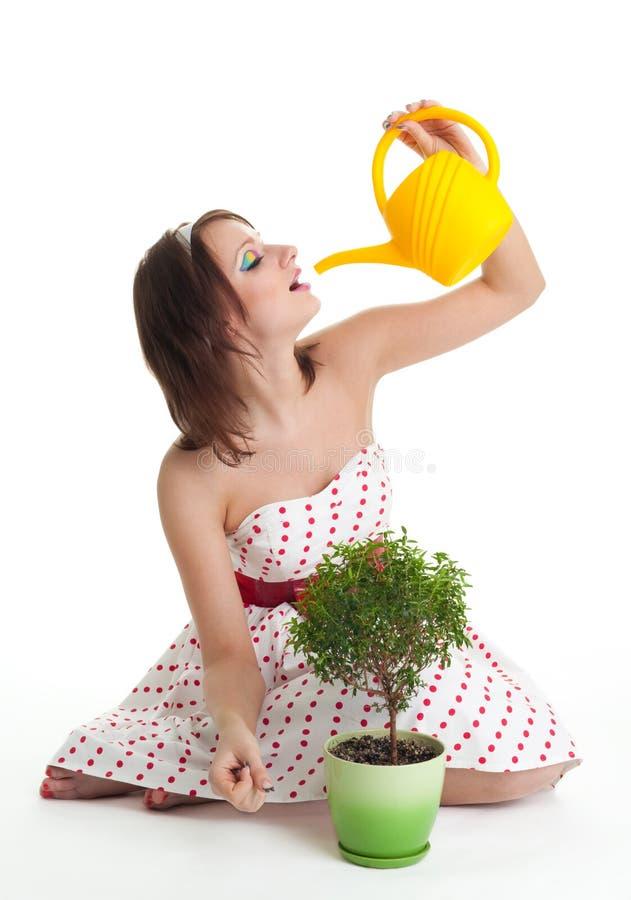 Leute und Anlagen benötigen Trinkwasser stockbild