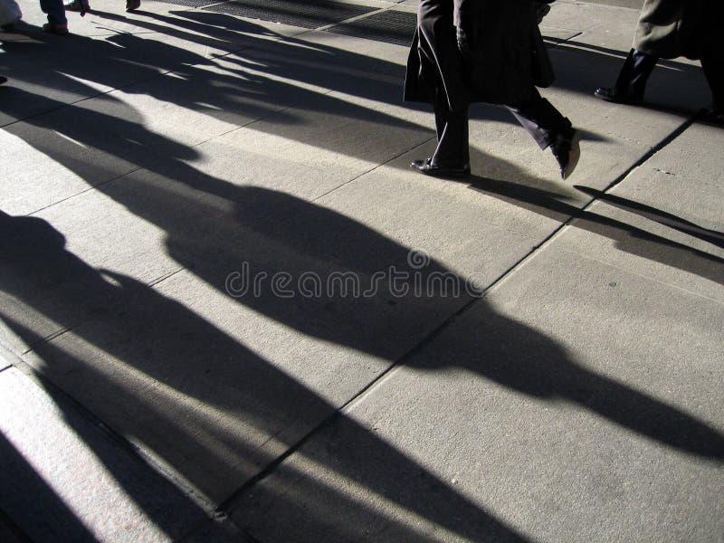 Leute-Verkehr New- York Citywall street lizenzfreie stockfotos