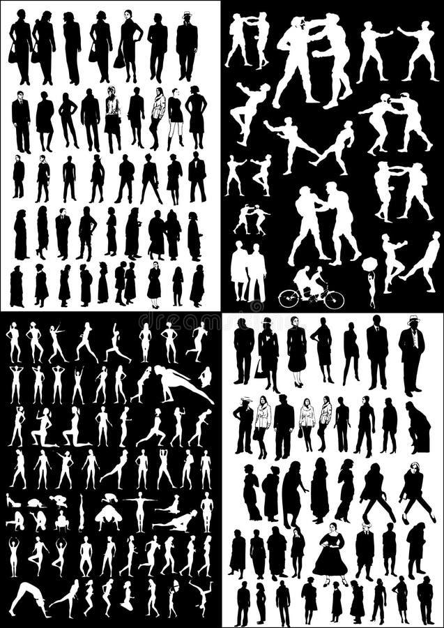 Leute - verschiedene Haltungen stock abbildung