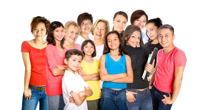 Leute vom unterschiedlichen Hintergrund. lizenzfreie stockfotos