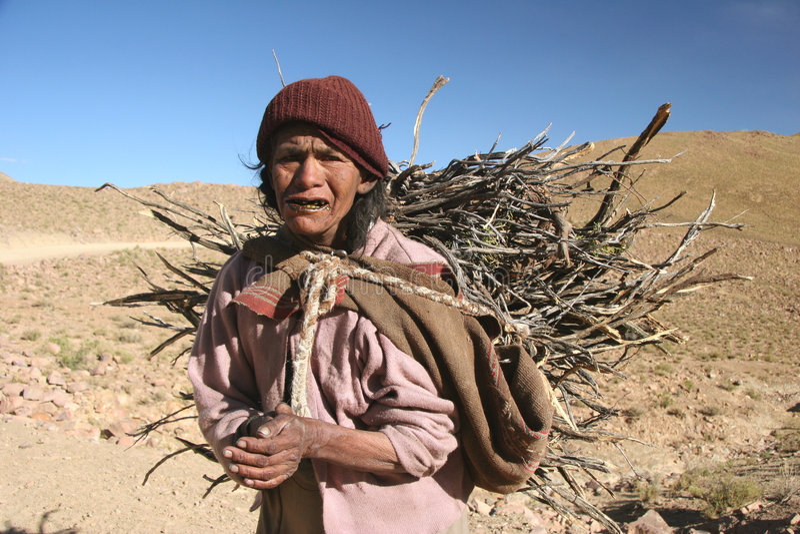 Leute von Bolivien stockbild
