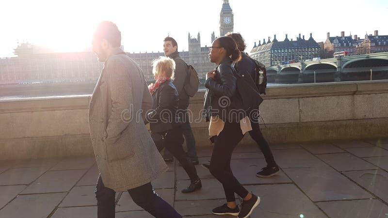 Leute von London stockbilder