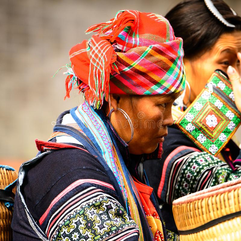 Leute von Sapa, Vietnam lizenzfreie stockbilder
