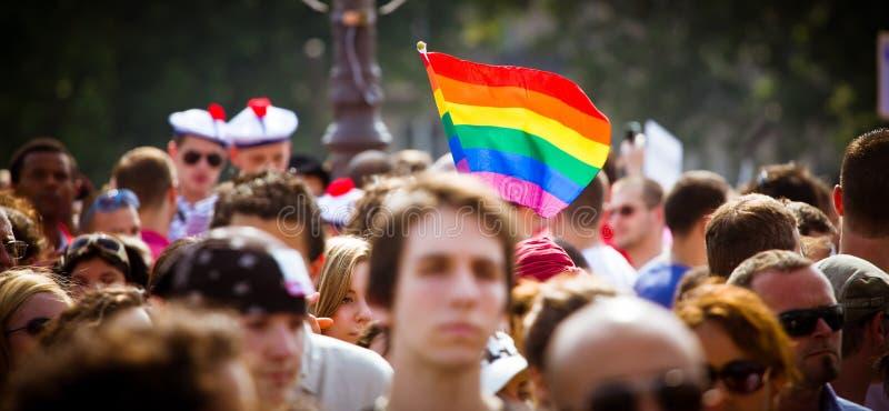 Leute während des homosexuellen Stolzes stockfotografie