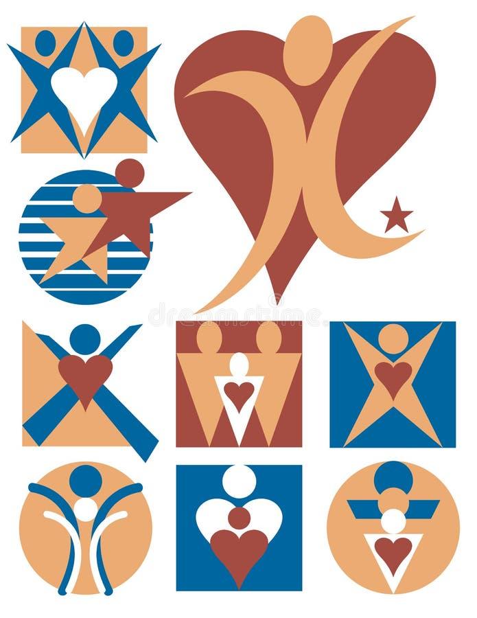 Leute-Zeichen-Ansammlung 7 vektor abbildung