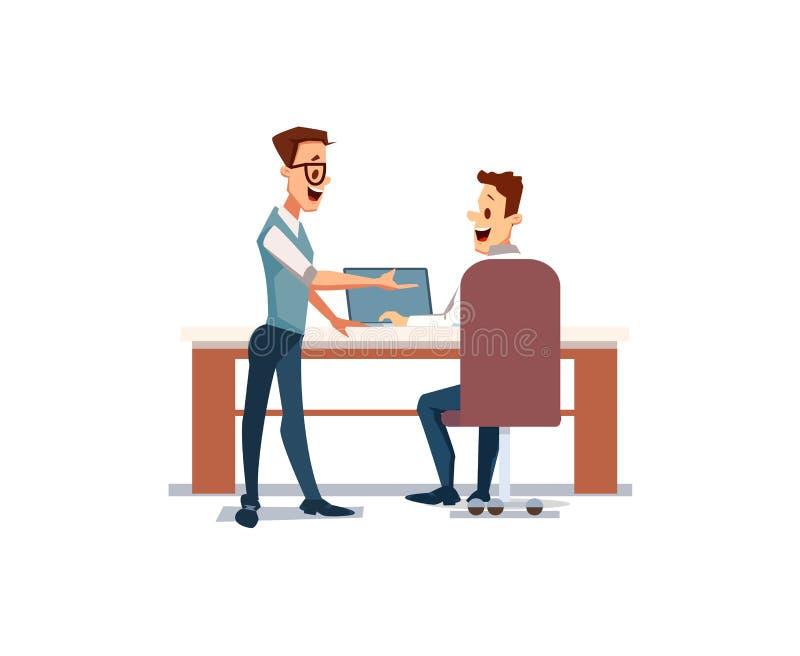 Leutearbeit im Büro Auch im corel abgehobenen Betrag vektor abbildung