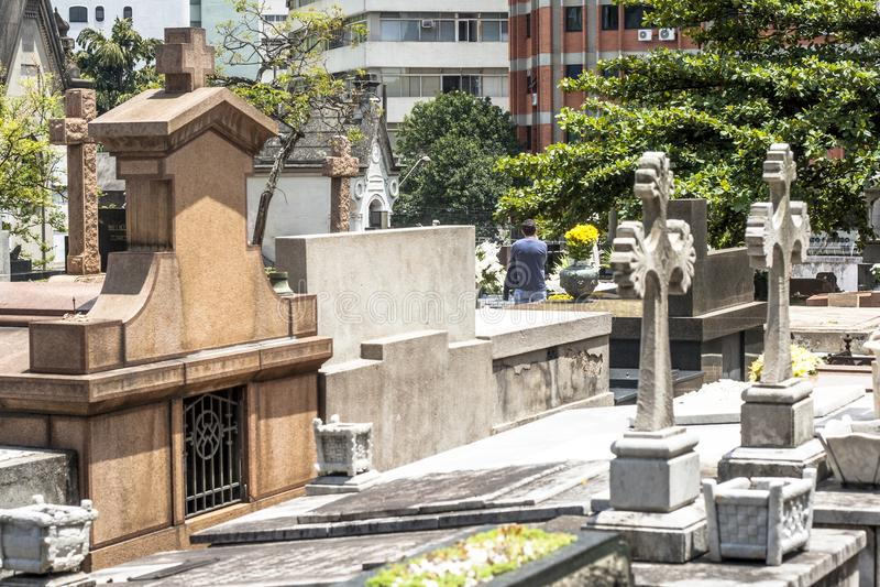 Leutebesuchsspeicher in Sao Paulo lizenzfreie stockfotos