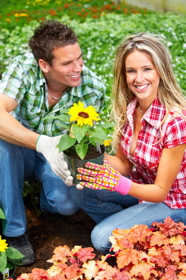 Leuteblumenhändler stockbilder