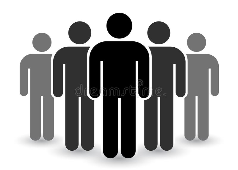 Leuteikone eingestellt in modische flache Art Personensymbol infographics Websitedesign, Logo, APP, UI lokalisiert auf weißem Hin vektor abbildung