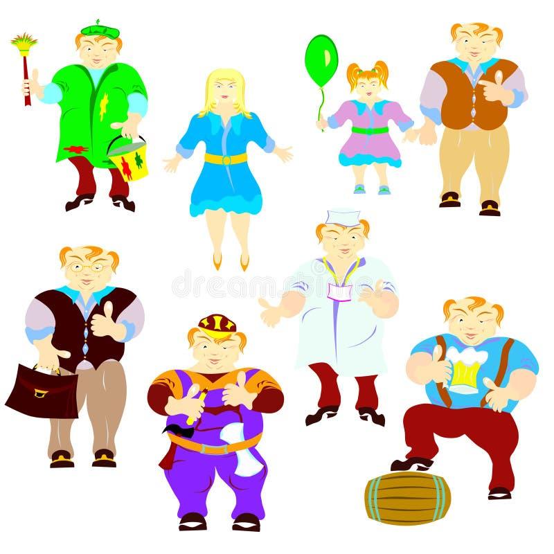 Leutekarikaturen stockbild