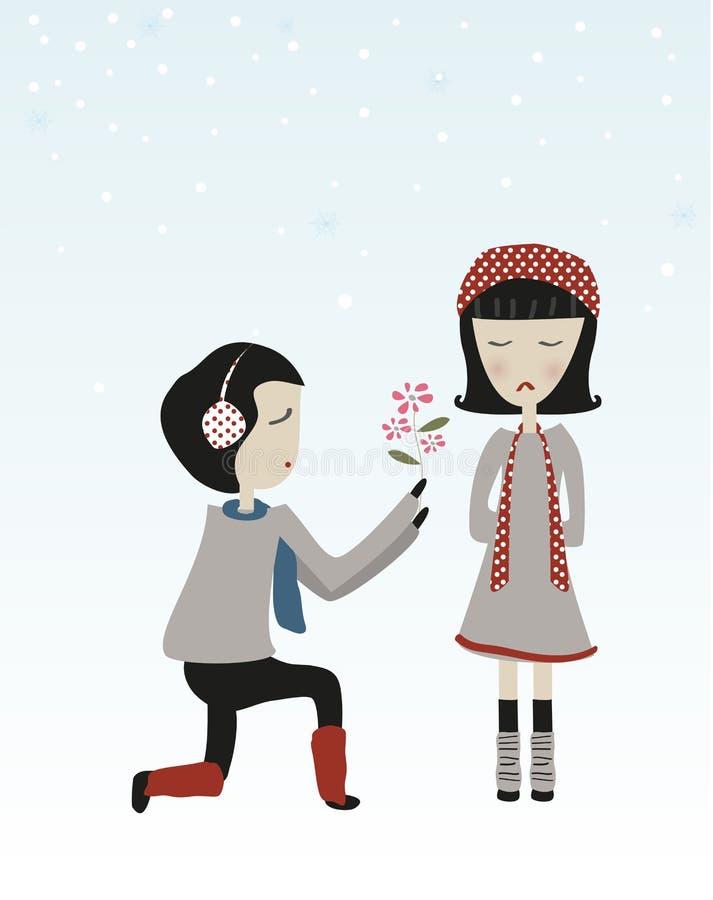 Leuteliebes-Blumenvektor lizenzfreies stockbild