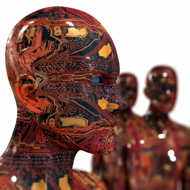 Leutemaschine - künstliche Intelligenz. lizenzfreie stockfotos