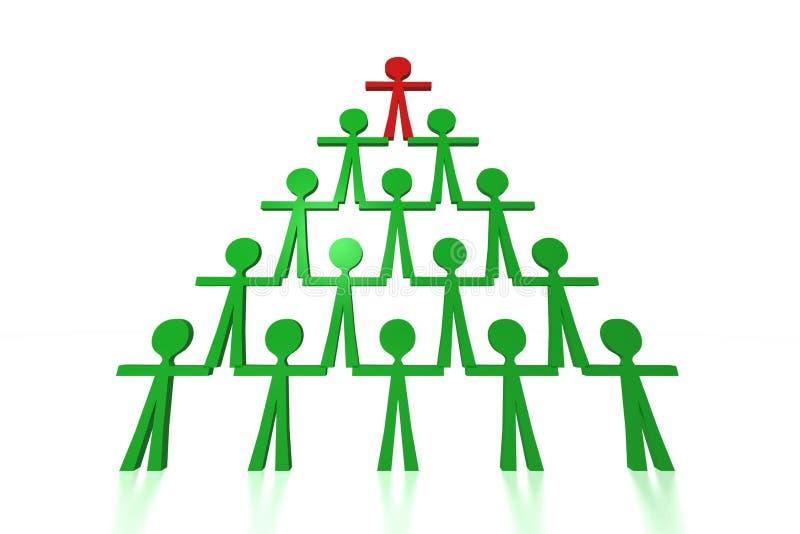 Leutepyramide - Teamsupport lizenzfreie abbildung