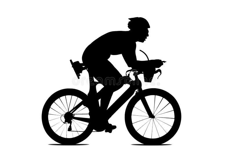 Leuteradfahren lokalisiert auf Weiß lizenzfreie abbildung