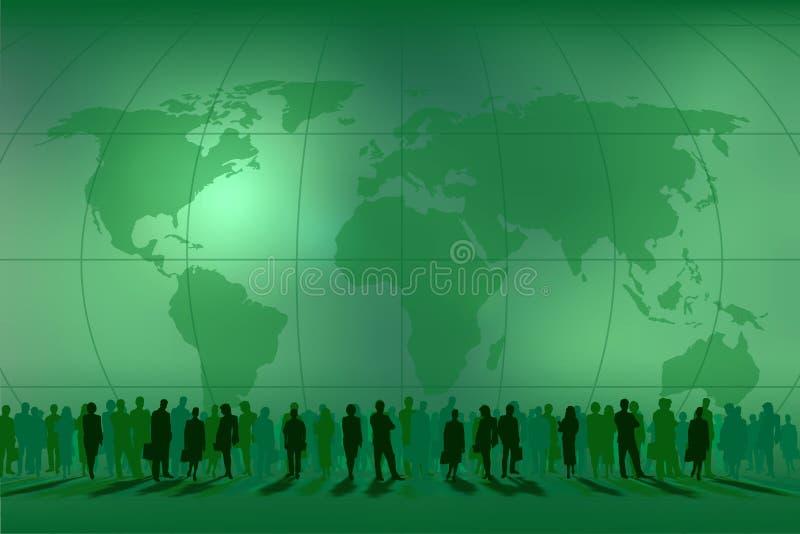 Leuteteams in der Welt lizenzfreie abbildung