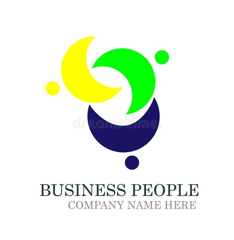 Leuteverbandsteamarbeitssozialgemeinschaftslogoikonen-Elementvektor auf weißem Hintergrund stock abbildung