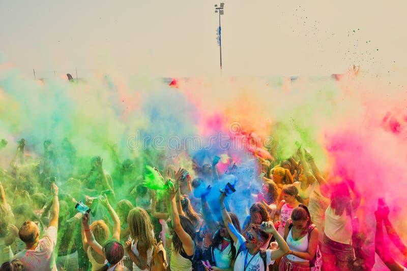 Leutewurfs-Farbpulver stockfotos