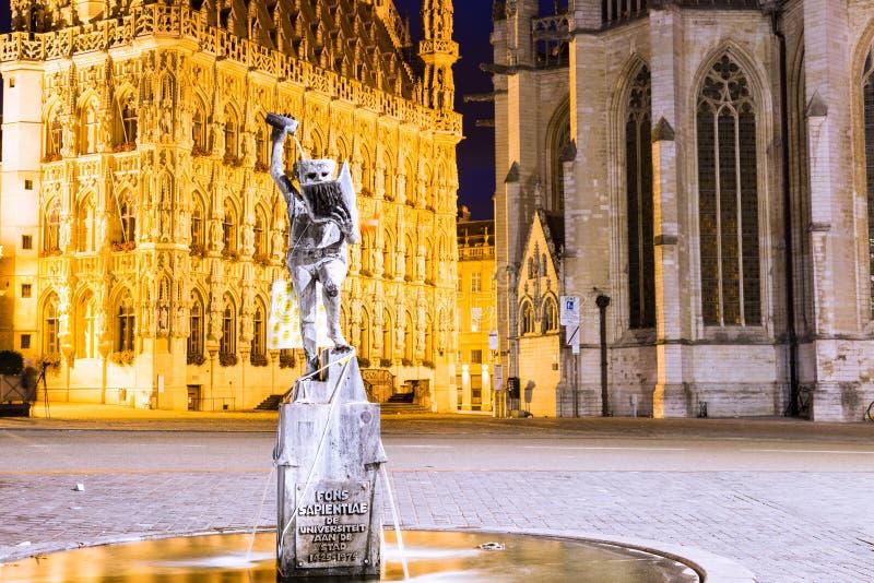 Leuven, Fons Sapientiae arkivbilder