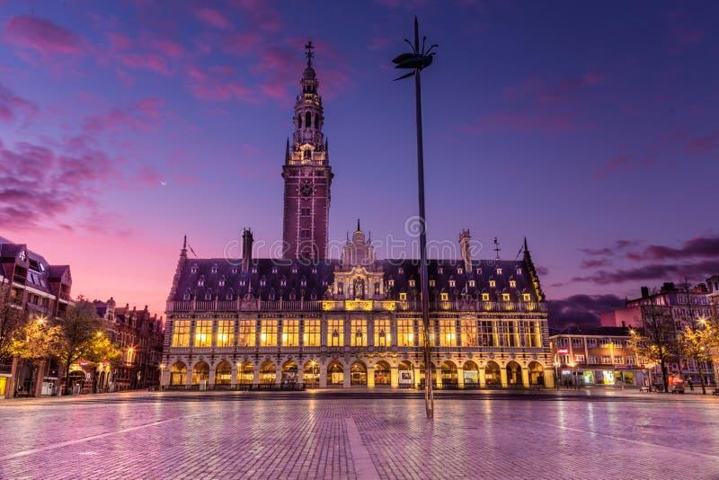 Leuven Library, Sunrise arkivfoton