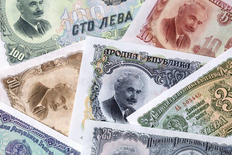 Lev bulgare, un fond photographie stock