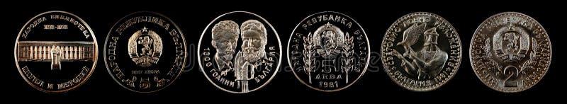 Lev commémoratif de pièce de monnaie de Bulgarie image libre de droits