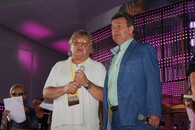 Lev Leshchenko y Yuri Antonov imágenes de archivo libres de regalías