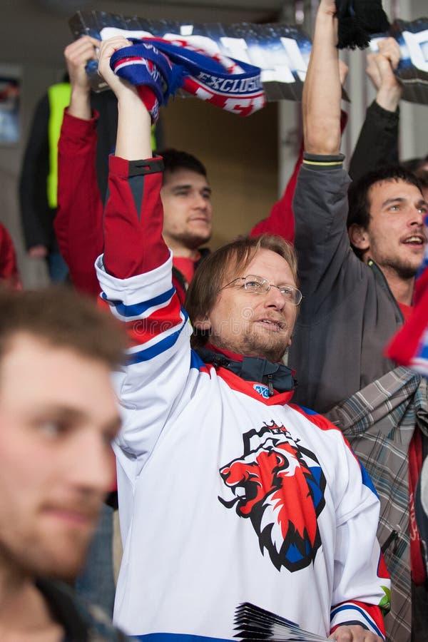 Lev Prague contra Donbass Donetsk imagen de archivo