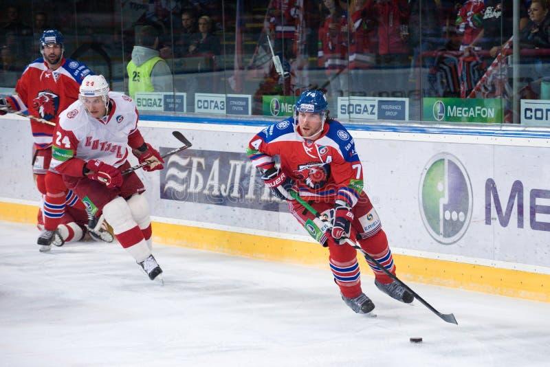 Lev Prague contra Vitaz Podolsk foto de archivo