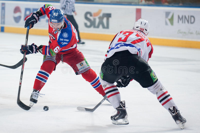 Lev Prague versus Donbass Donetsk royalty-vrije stock afbeeldingen