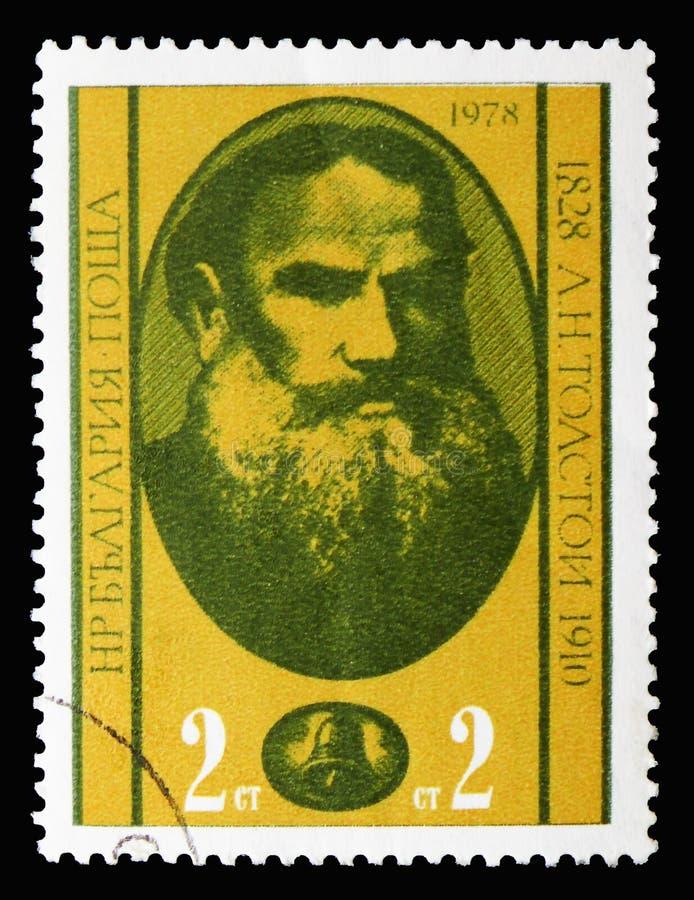 Lev Tolstoy 1828-1910 auteurs russes, anniversaire 100 de photographie stock libre de droits
