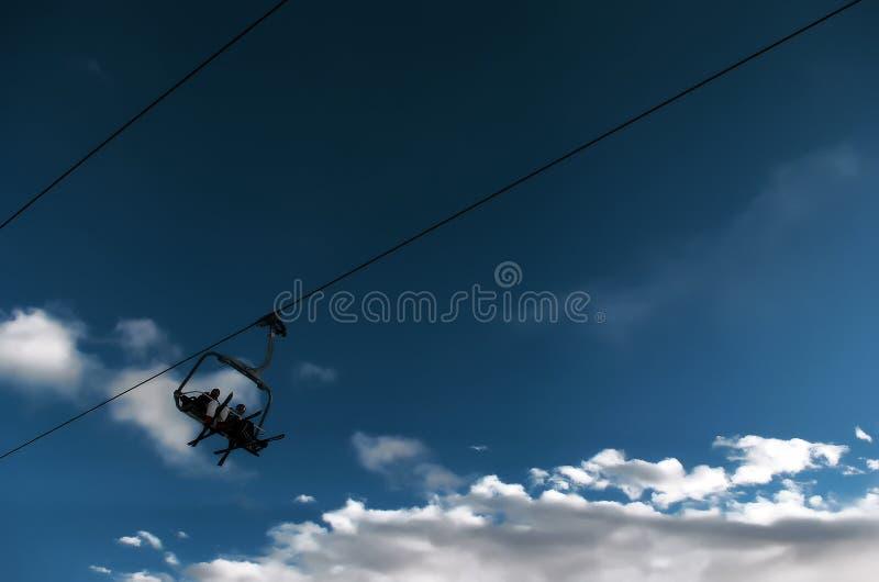 Levage de ski image libre de droits
