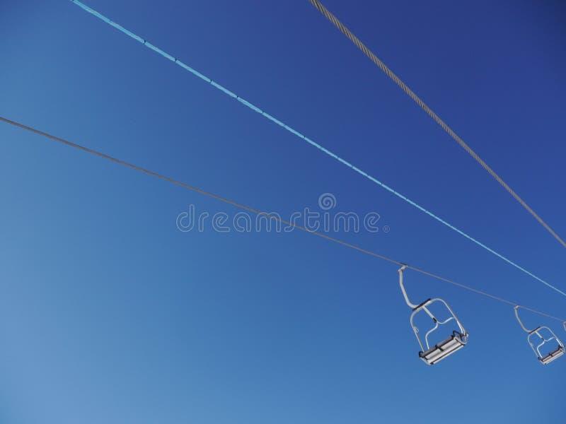 Levage de ski photographie stock