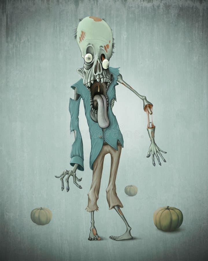 Levande död halloween stock illustrationer