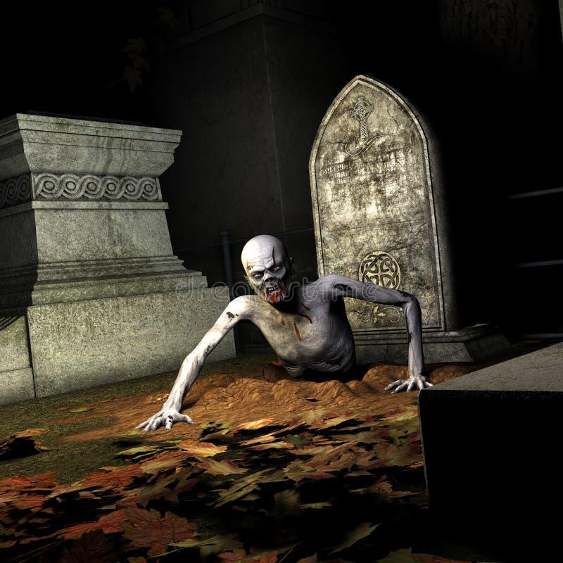 Levande död - resning från graven vektor illustrationer