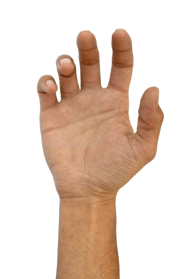 Levande döden utformade handen poserar arkivfoton
