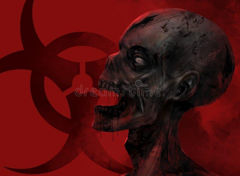 Levande dödframsidacloseup stock illustrationer