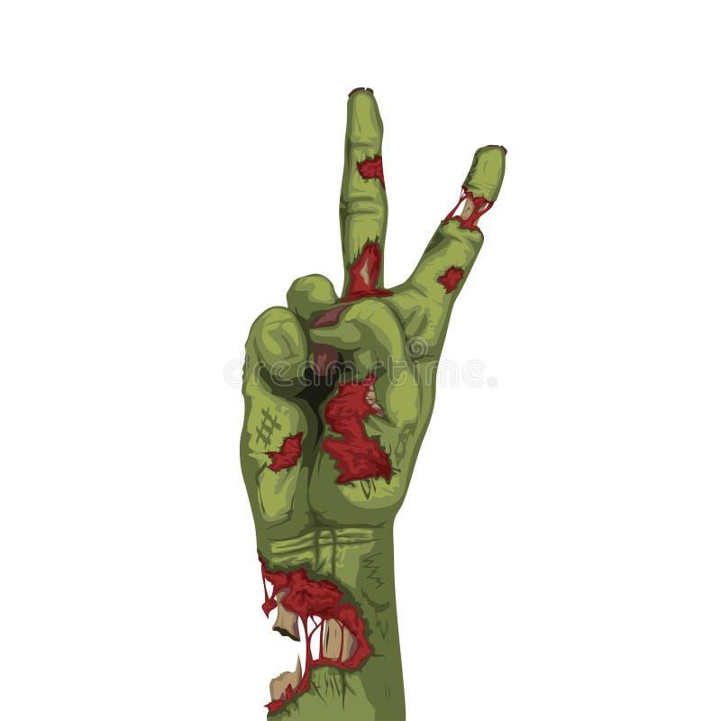 Levande dödhand för grön färg royaltyfri illustrationer
