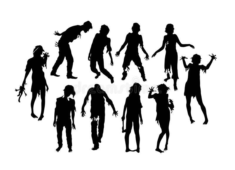 Levande dödkonturer vektor illustrationer