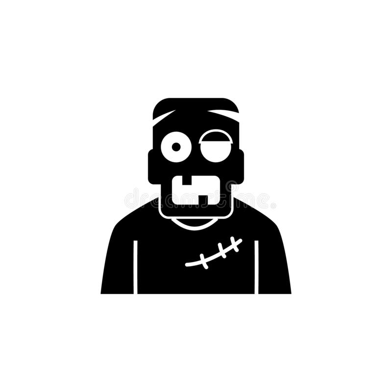 Levande dödsymbol Beståndsdel av spökebeståndsdelillustrationen Tunn linje illustration för websitedesignen och utveckling, app-u vektor illustrationer